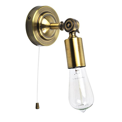 Cream Wall Lights With Pull Cord : 25w chrome ip44 bathroom wall light with pull cord switch - Wall lights, LED bathroom & bedroom ...