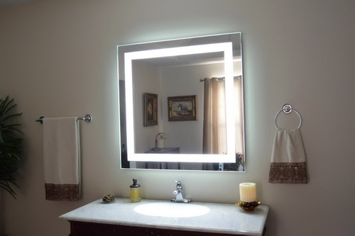 vanity wall mirror with lights