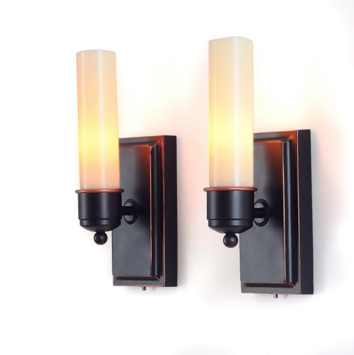 Battery Wall Sconces Home Lighting : Create some sort of ambience in your homes with wonderful Battery powered wall sconce lights ...