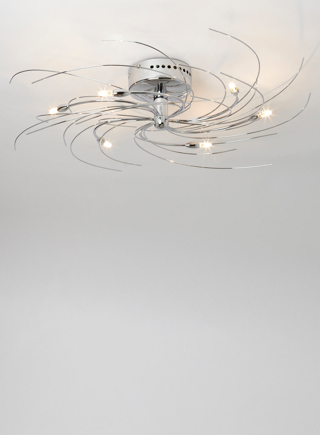 Chrome flush spiral ceiling light integralbook spiral ceiling light designs aloadofball Choice Image