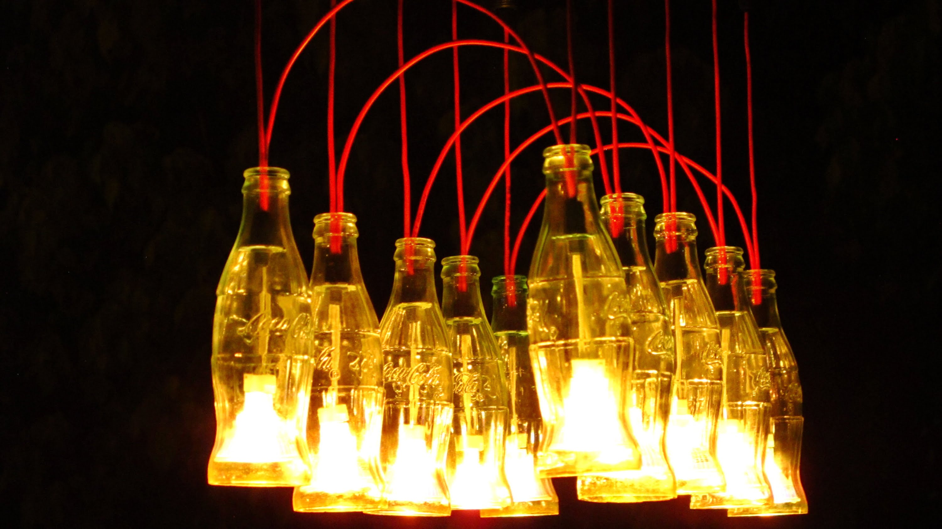 Coke bottle lamp 10 reasons to choose warisan lighting for How to make your own wine bottle chandelier