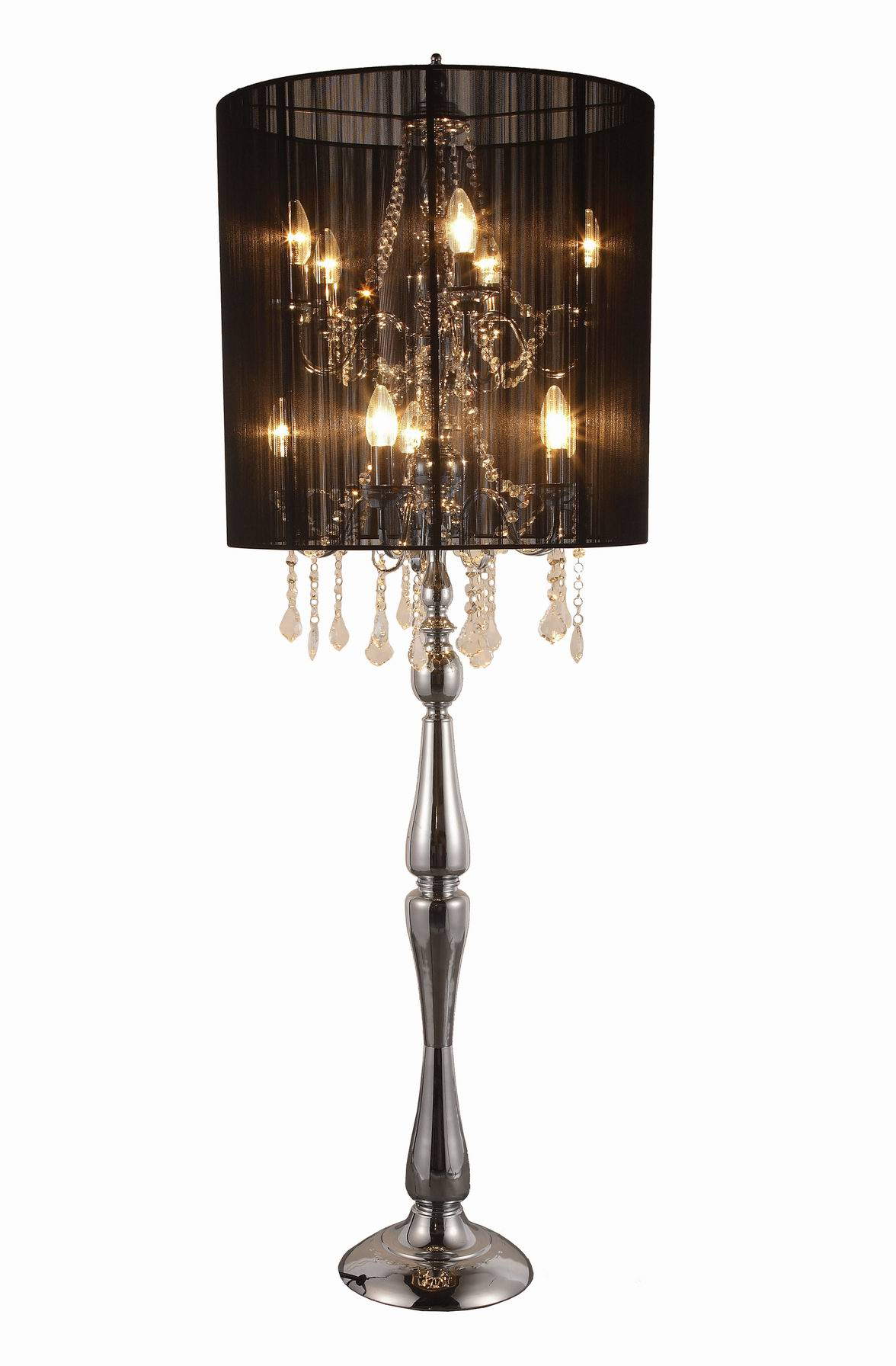 Black Chandelier Floor Lamp thesecretconsul