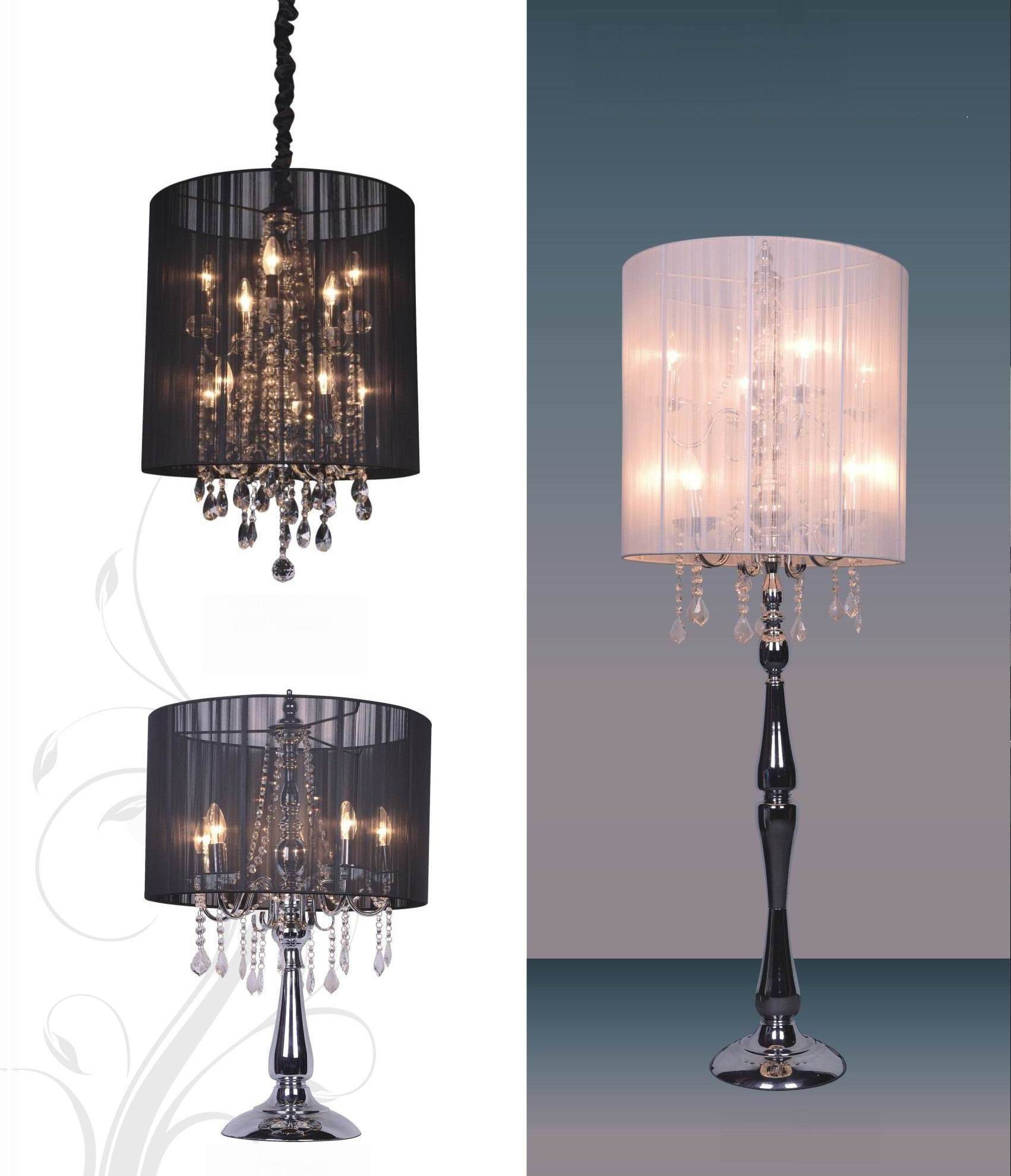 Crystal chandelier table lamps 15 ways to make any home shine crystal chandelier table lamps photo 8 geotapseo Image collections