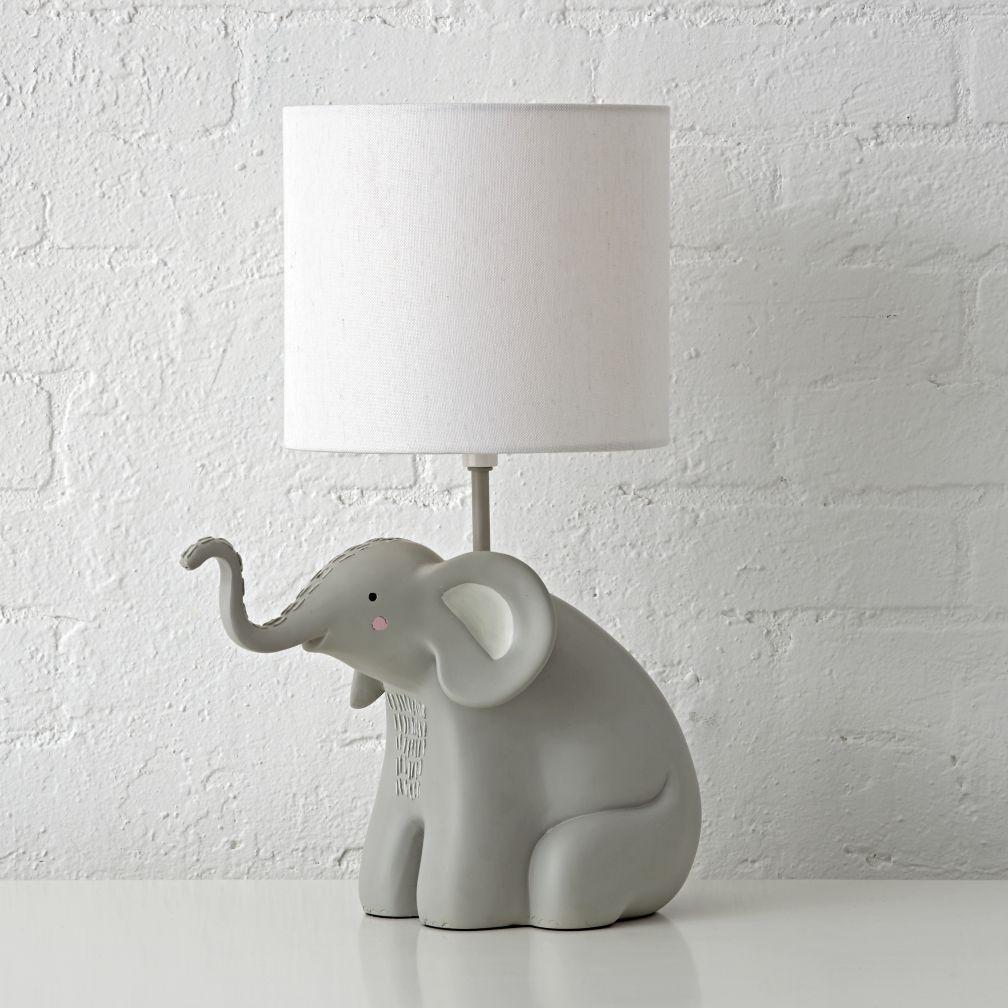 Cutie chuckle under the Elephant lamp for nursery | Warisan Lighting