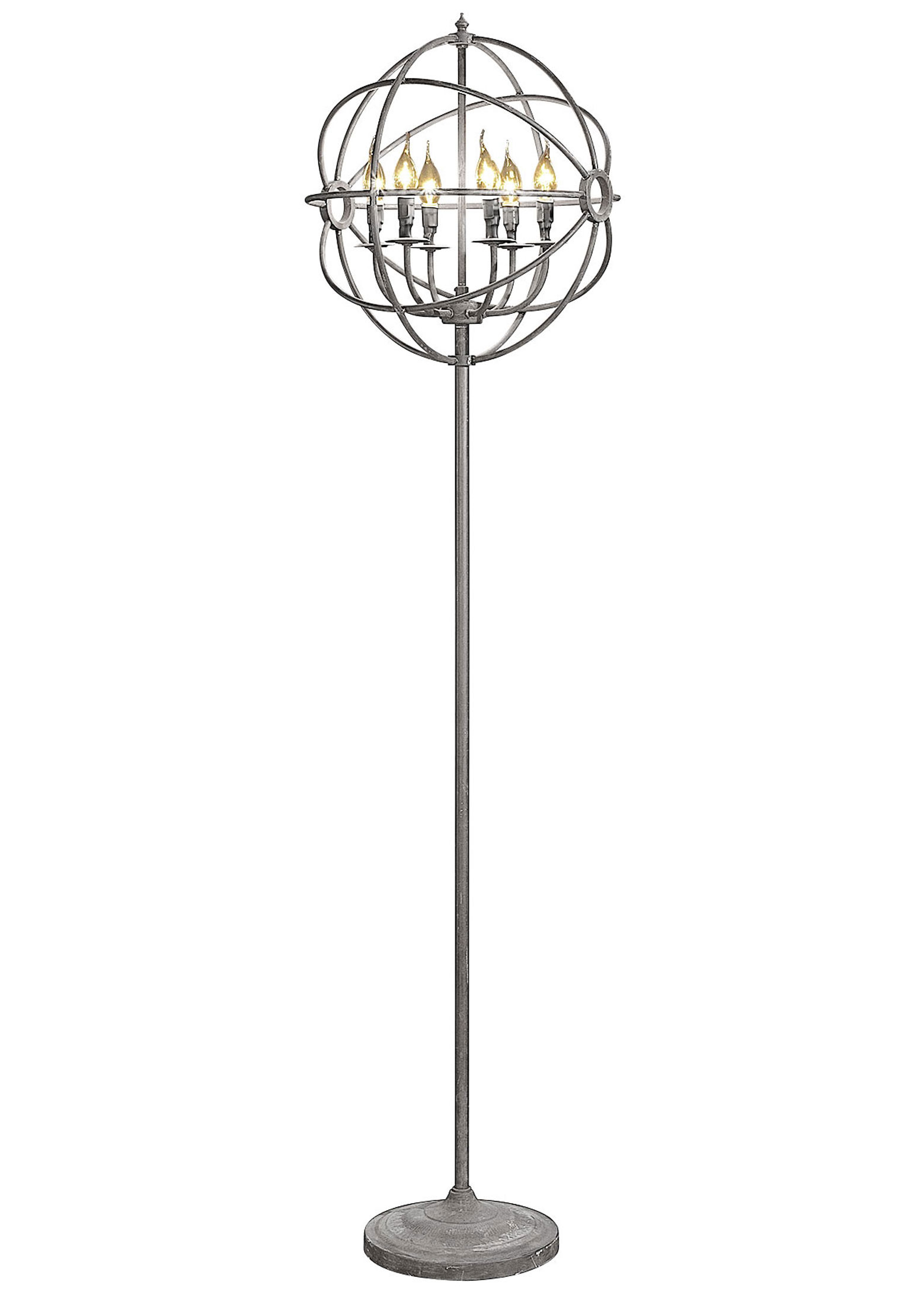 Add glamor to your home with floor lamp chandelier warisan lighting 3 spherical shape chandelier arubaitofo Choice Image