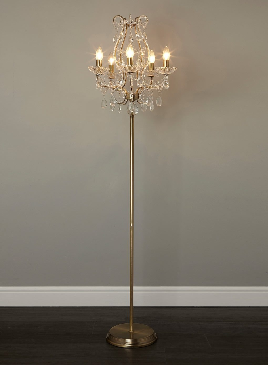 Add Glamor To Your Home With Floor Lamp Chandelier Warisan
