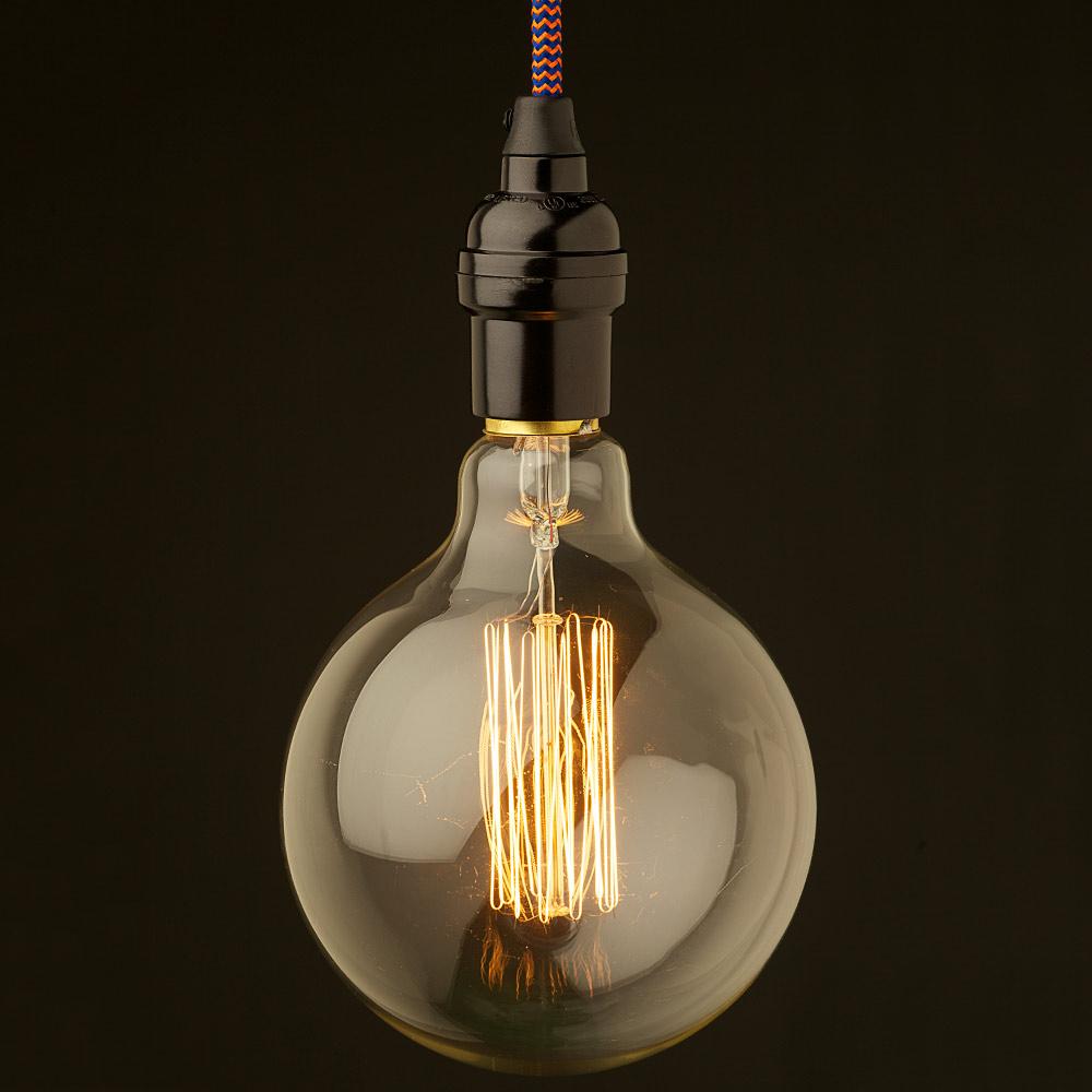 Hanging Light Bulb Pendant Farmhouse Style Rustic Bare