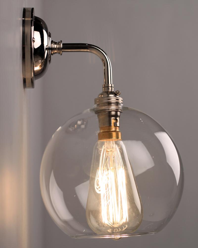 Brass Globe Wall Light Camba