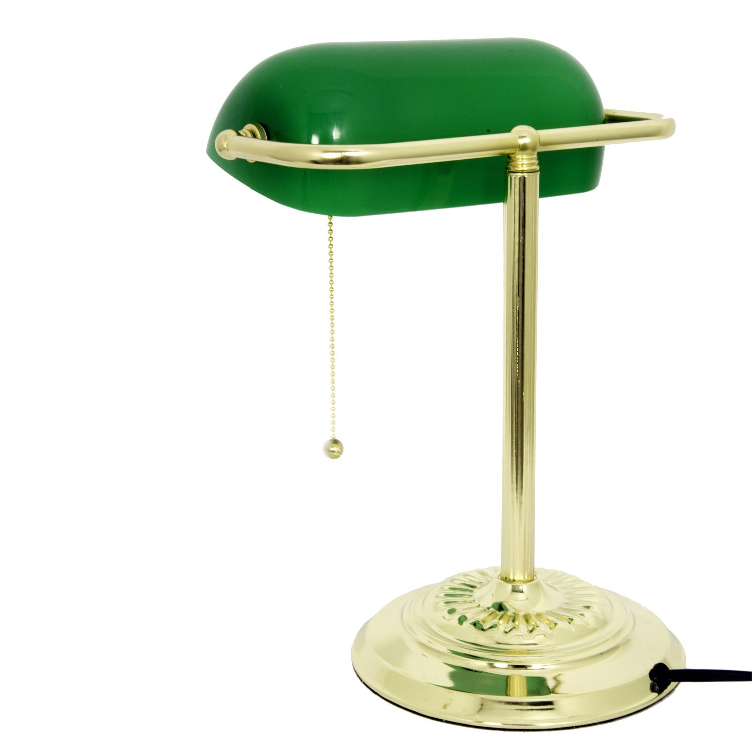 Green glass desk lamp