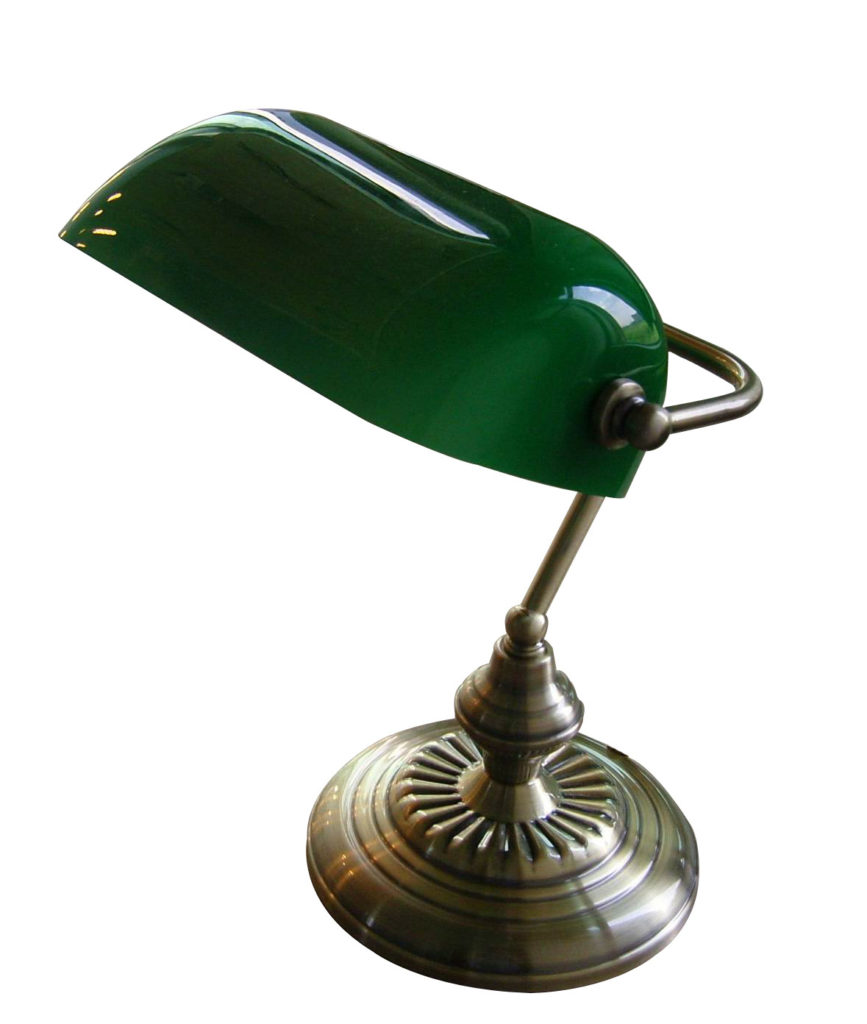 Scream Out Perfection A Green Glass Desk Lamp