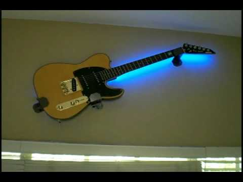 Light Your Guitar Wall Mount : Lighted guitar wall mount - 12 Musical Inspirations To Enlighten Your Room Warisan Lighting