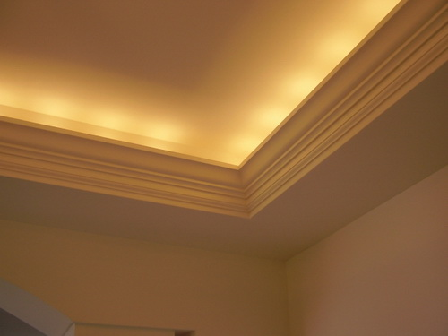 Lighted Tray Ceiling Enhances Beauty In Your Home