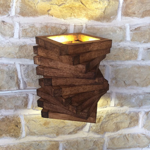 Small Rustic Wall Lights : Wooden wall lights - fit perfectly to the interiors of your homes! Warisan Lighting