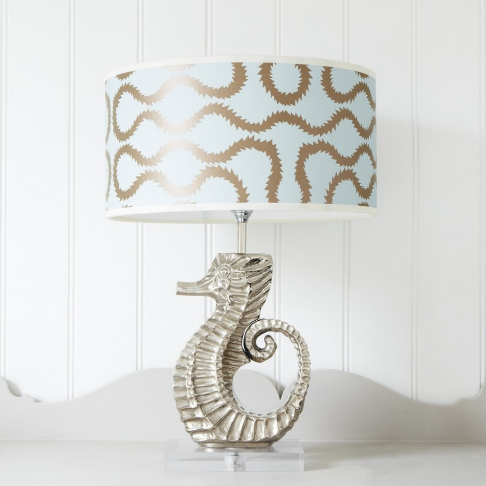 seahorse porcelain painted accent lamp hand beachy pinterest pin