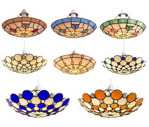 Tiffany-light-shades-ceiling-photo-6