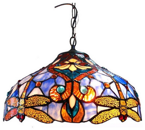 Tiffany-light-shades-ceiling-photo-9