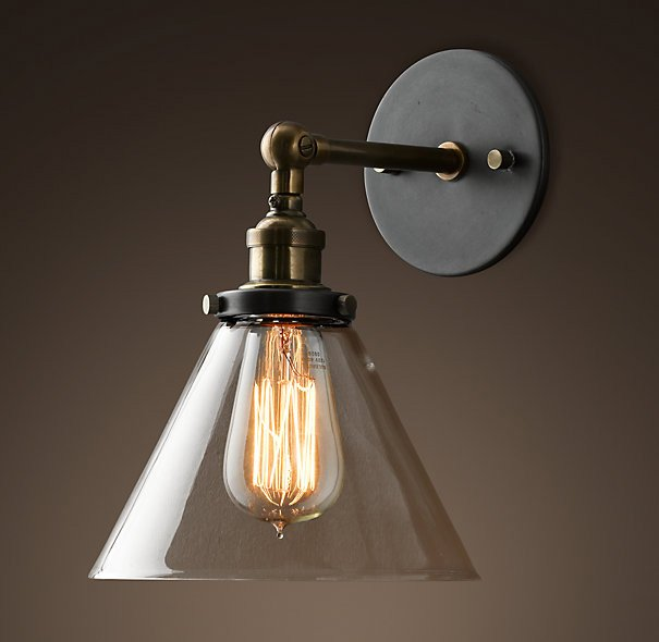 Vintage Industrial Wall Lamps : Vintage wall light fixtures - add a touch of the 70 s or 80 s to your home Warisan Lighting