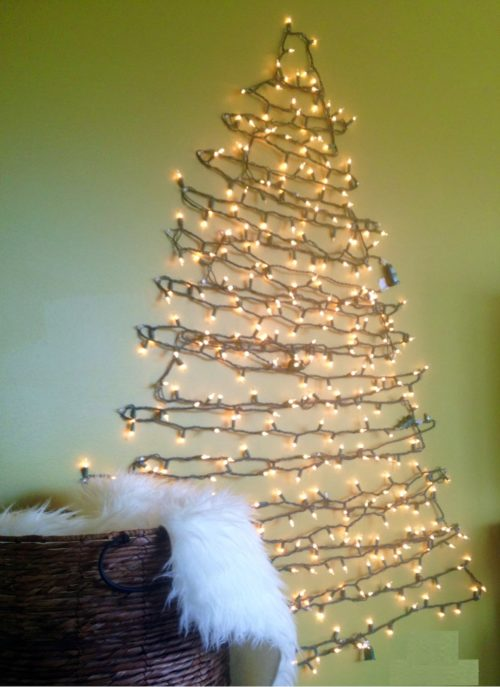 Wall Tree Made Of Lights : How to make a chrismas wall tree - 15 amazing Wall christmas tree with lights Warisan Lighting