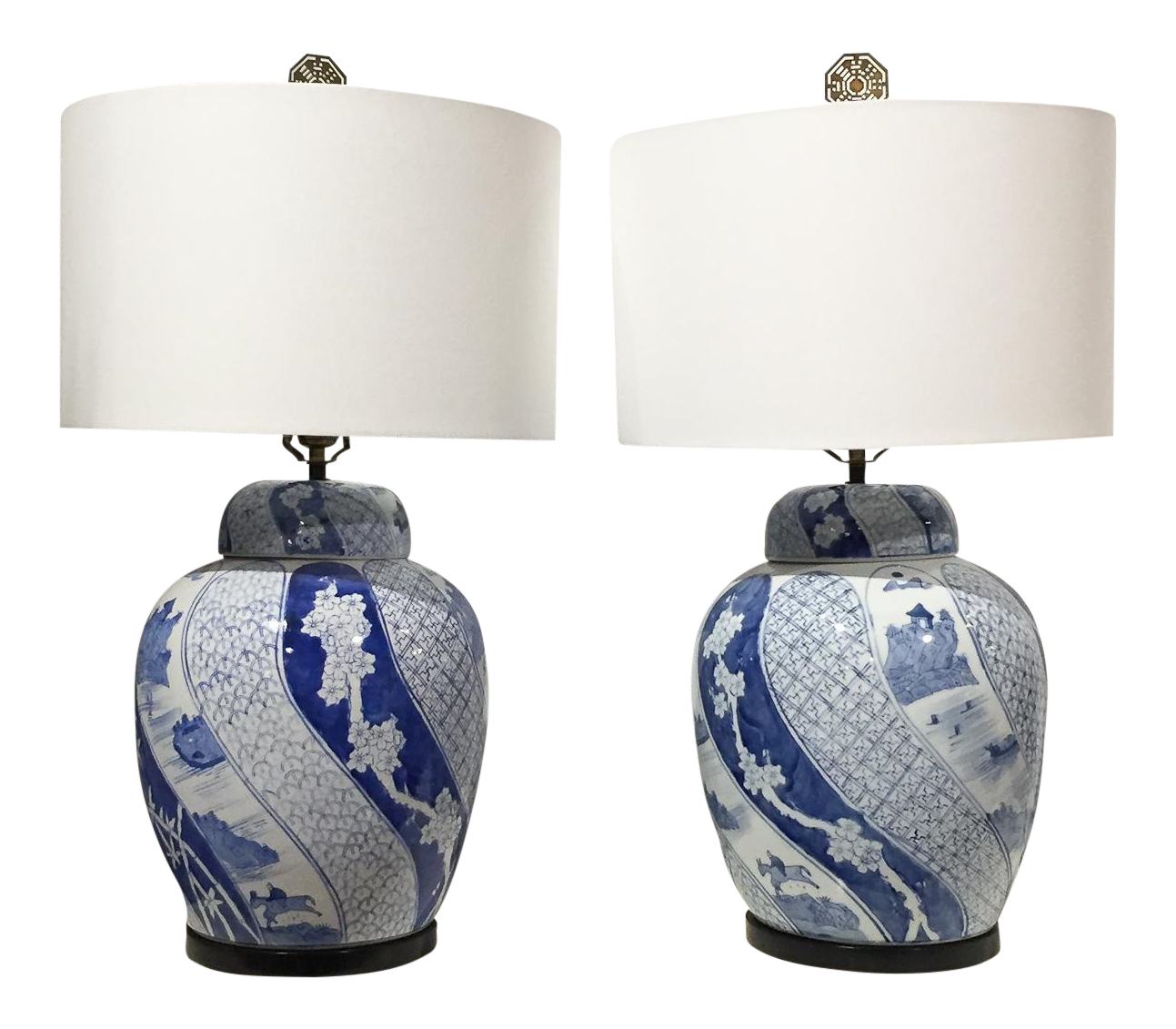 Blue and white ginger jar lamps 25 tips for choosing warisan conventional white table lamps geotapseo Image collections