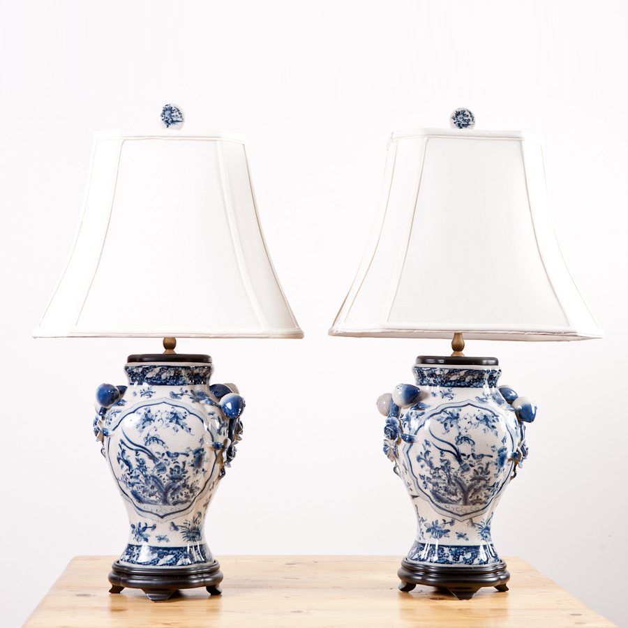 Blue and white porcelain lamps for a fantastic home appearance design and styles these porcelain lamps mozeypictures Images