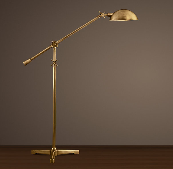 Brass pharmacy floor lamp 10 different stylistic themes for Chunky brass floor lamp