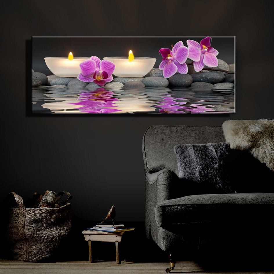 Lights For Wall Decor : Canvas light up wall art ideal decorations