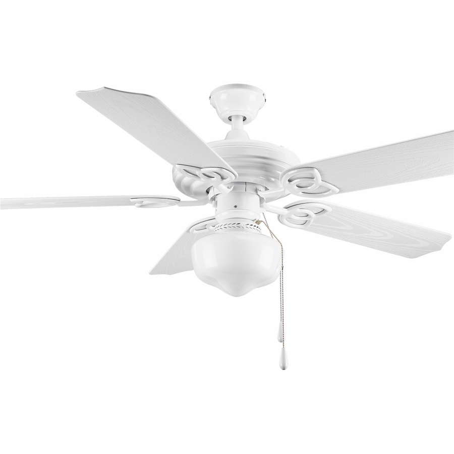 White Ceiling Fan With Light Kit Enlarged Image Shop