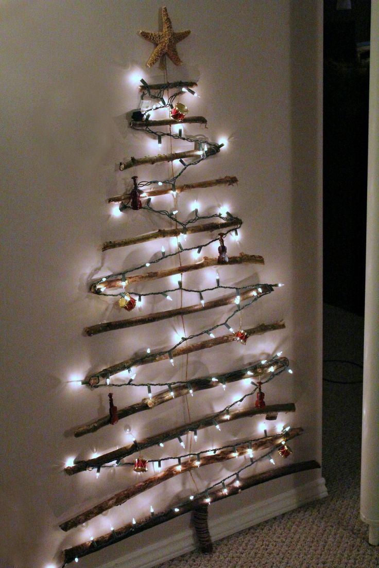 DIY Christmas Tree Made Of Lights On Wall Warisan Lighting - Outdoor Christmas Tree Made Of Lights