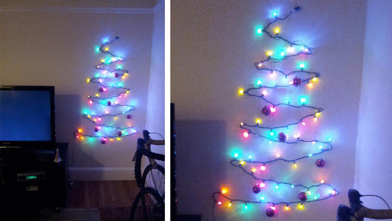 Enliven the Christmas Celebration Using Christmas Tree Wall Lights ...