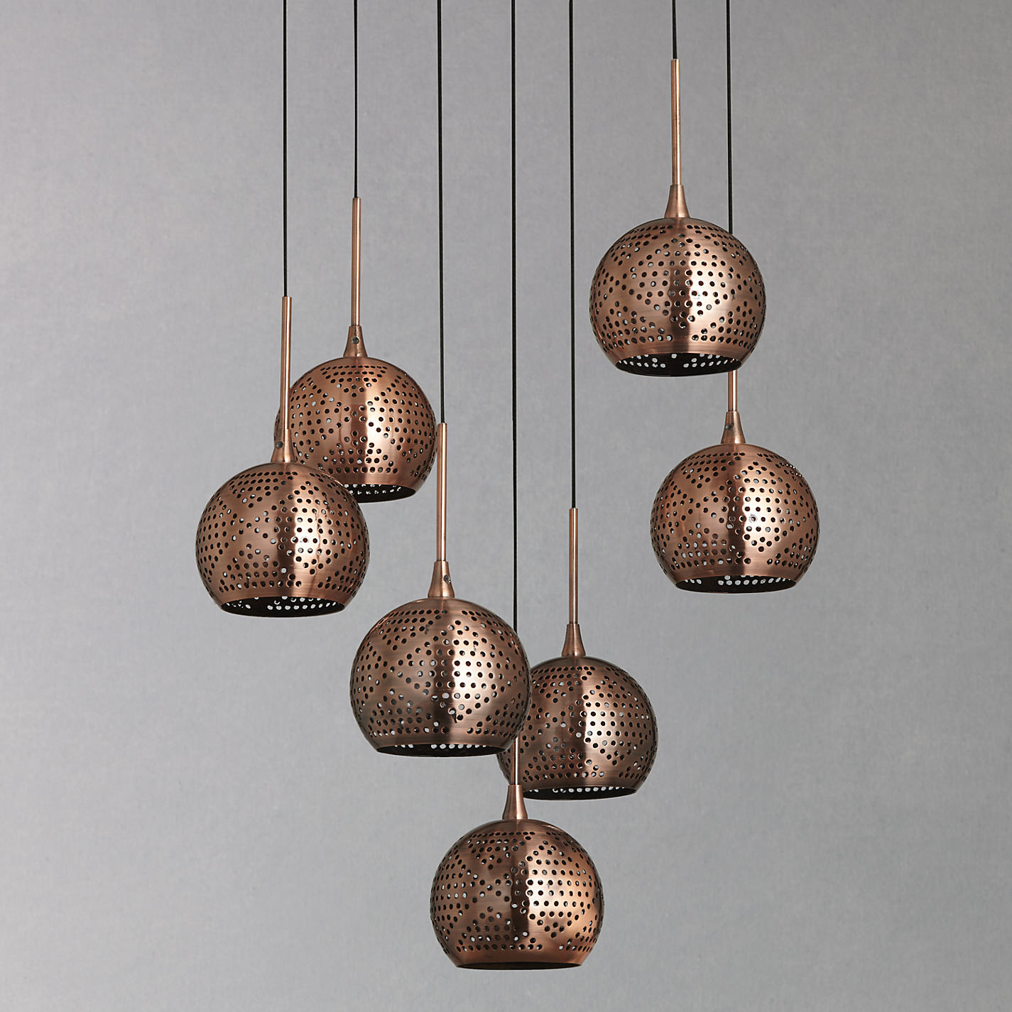 Then Try Out Our Copper Ceiling Lights. These Hanging Designer Lights Do  Make A Statement On Their Own!