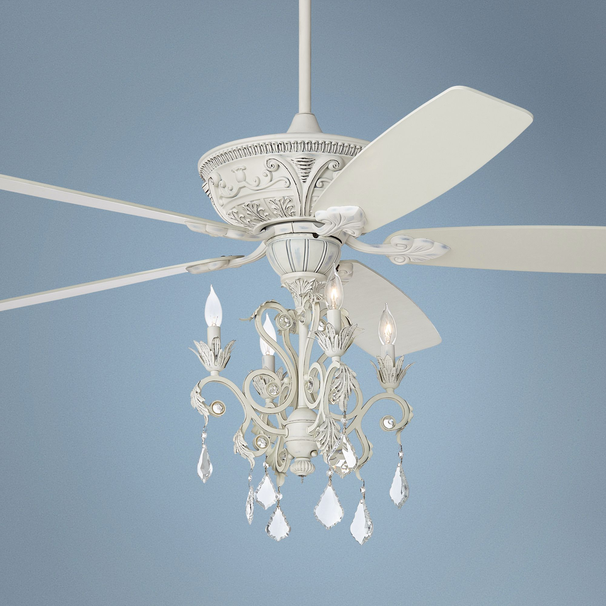 Crystal ceiling fan light - 10 rich ways to cool your room ...