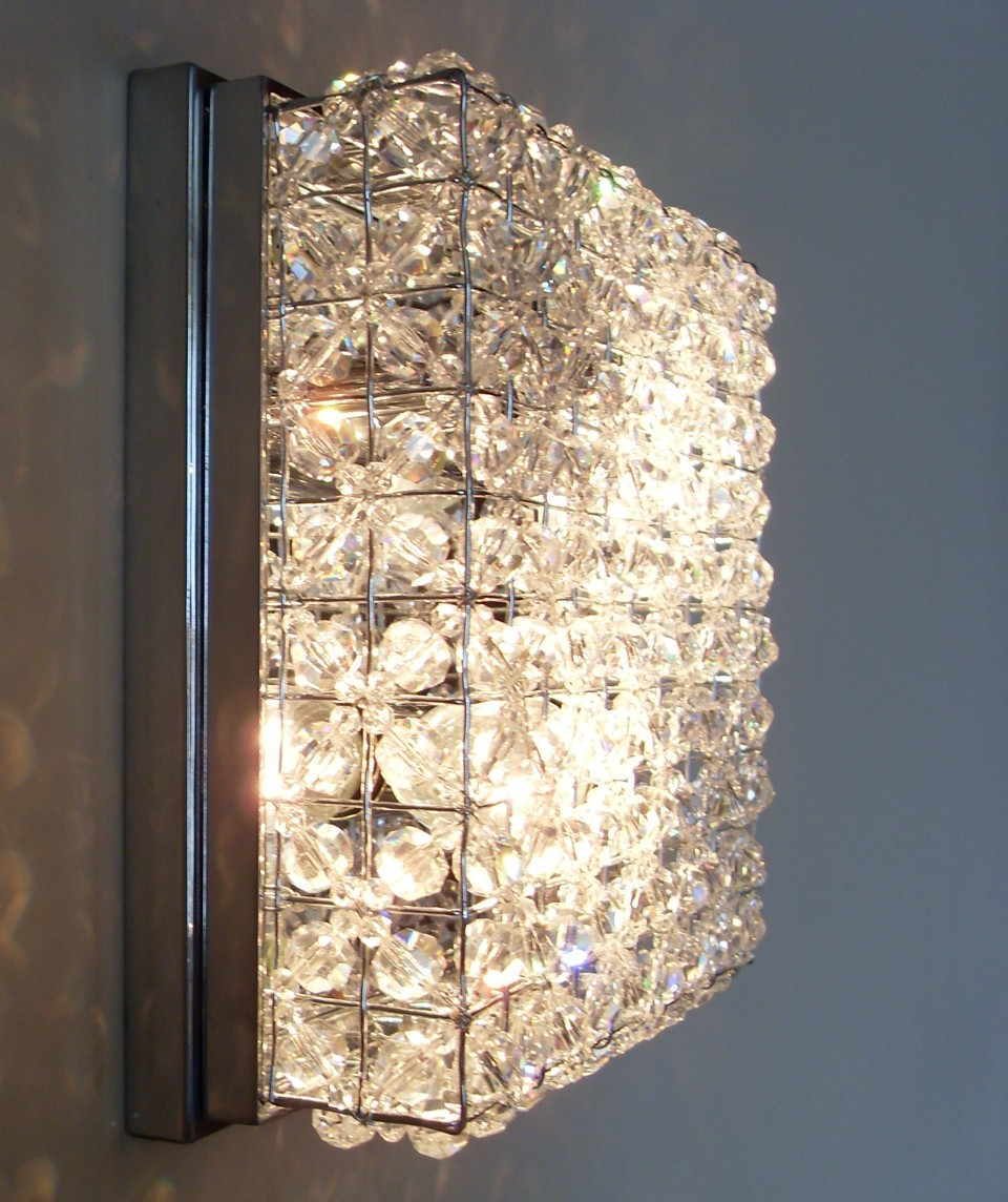 Brighten Your Way With Crystal Wall Lamp