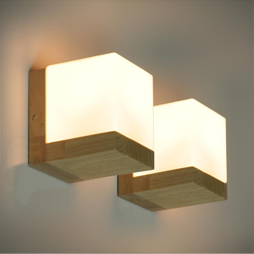 Cube wall lights a great way to enhance the look of your home easy installation aloadofball Images