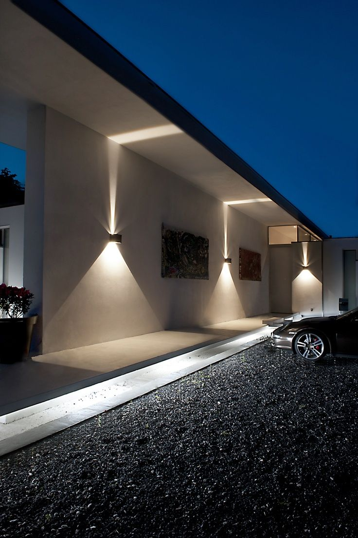 Driveway wall lights feel the warmth of home warisan for Lampe exterieur led design