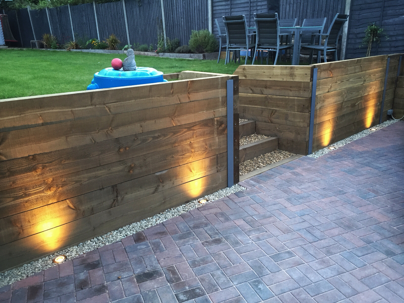 Driveway wall lights feel the warmth of home warisan for How to install driveway lights