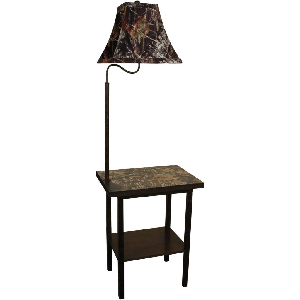Bedside Lamp With Attached Table