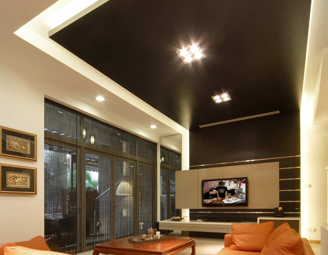 How to build a false ceiling for downlights www for False roof ceiling