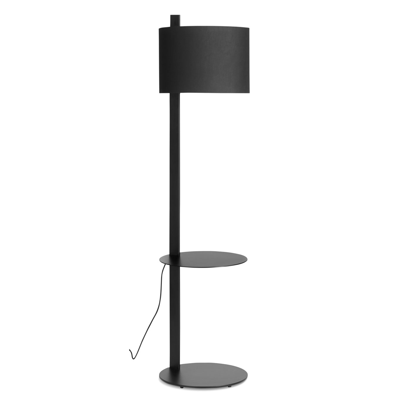 pole lamp with table