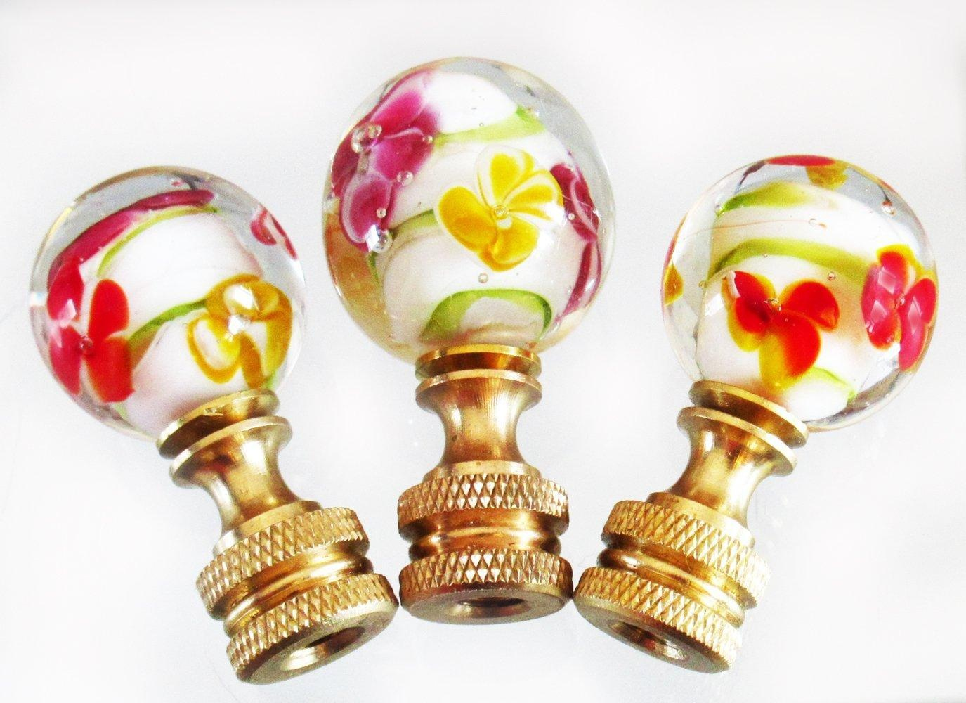 25 methods to beautify your lamps with glass lamp finials