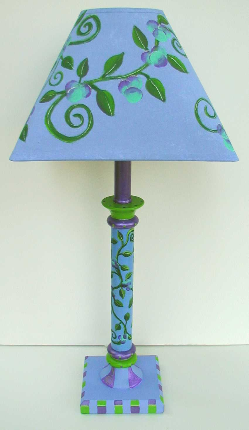 make your home look unique with hand painted lamps