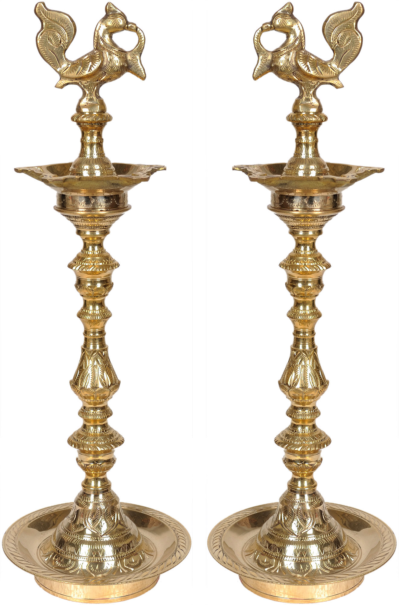 Indian brass lamps the magnificence of a millennial for Brass floor lamp india
