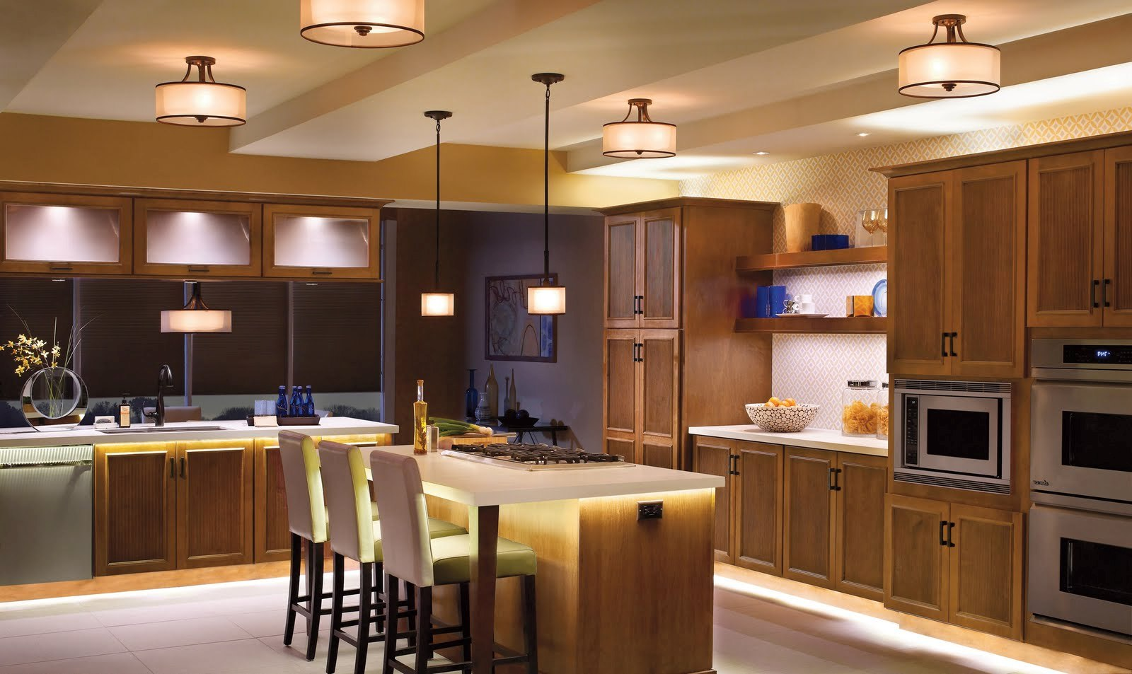 Illumination With Led Kitchen Ceiling