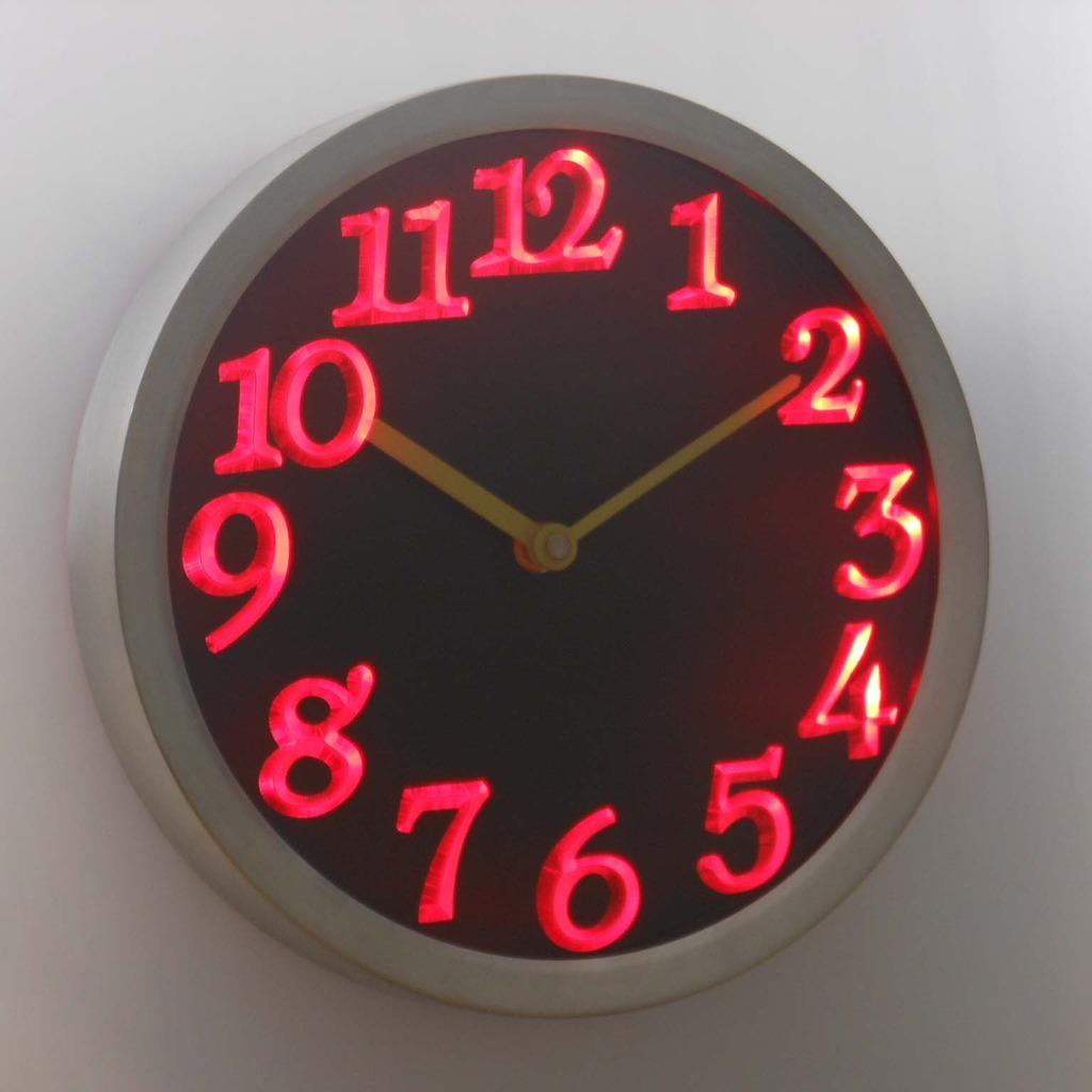 Wall Clock With Led Light Gallery Home Wall Decoration Ideas