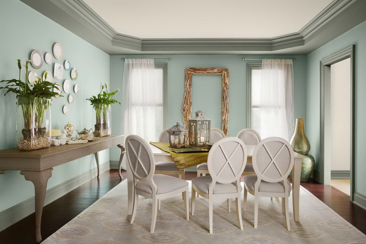 Light Blue Color And Psychology Say Wall Dining Room Paint Colors 7