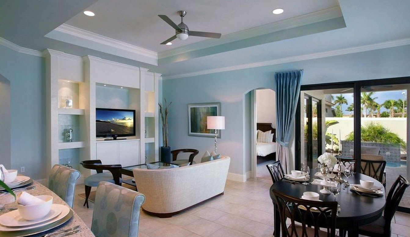 Light Blue Walls In Living Room A Pleasant Ambient In Your Home Warisan Lighting