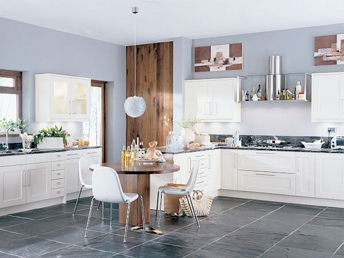 Light Gray Wall Kitchen
