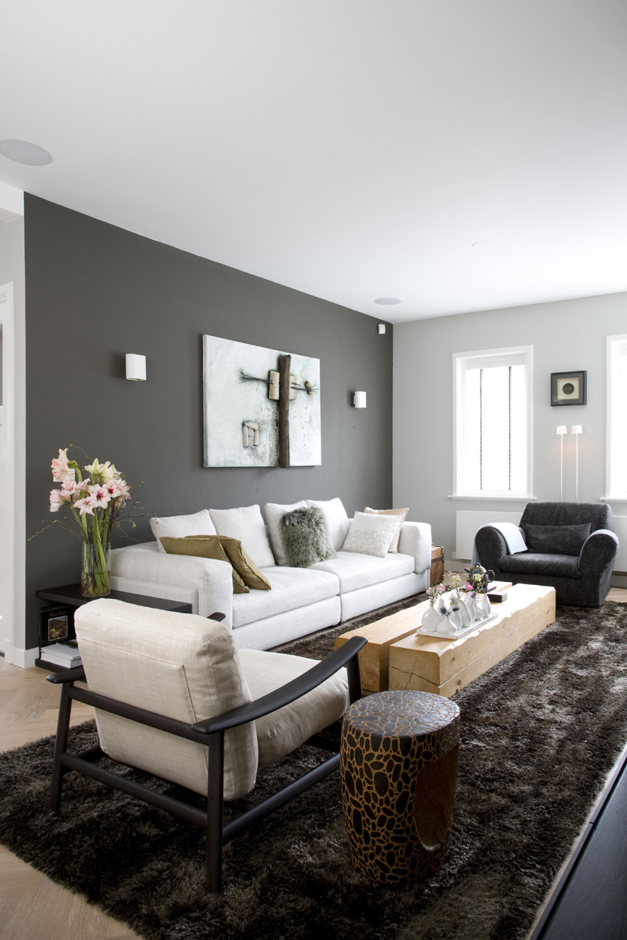 Light grey interior walls a blend of beauty and personality in added decor aloadofball Gallery