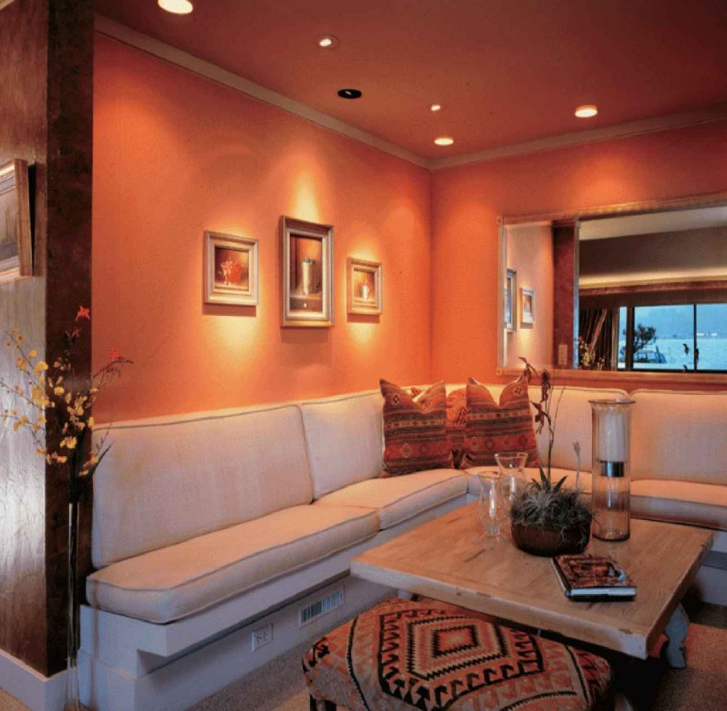 Make Home Decoration Fun With Light Orange Wall Paint