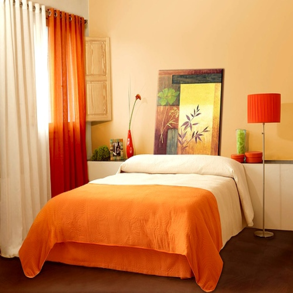 Make home decoration fun with light orange wall paint for Orange wall paint