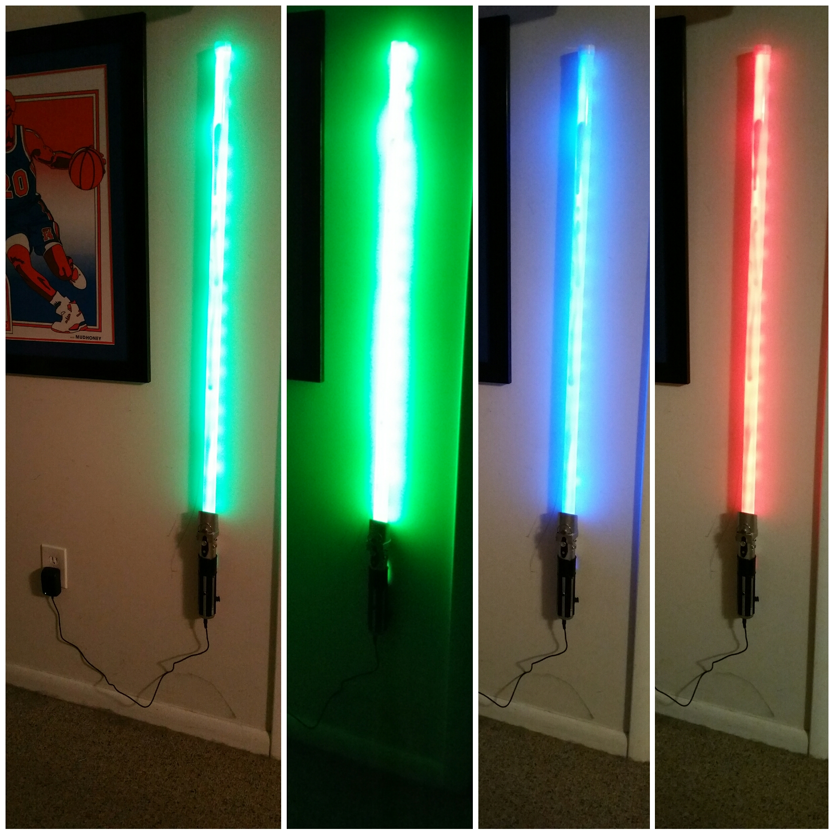Light Saber Lamp Keeping Individuals In The Light